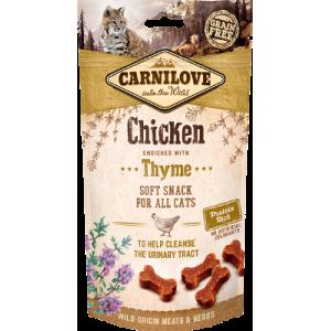 Snack Carnilove Pollo Semihúmedo Enriquecido con Tomillo Grain Free