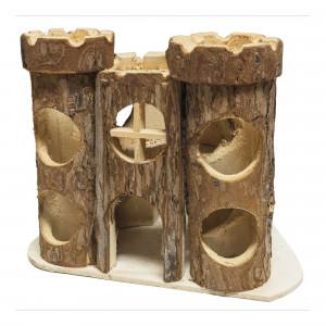 Accesorio de recreo Castillo natural rústica para roedores