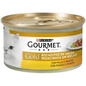 Gourmet Gold Bocaditos en Salsa Con Pollo E Higado