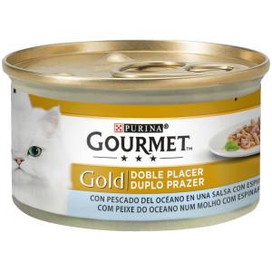 Gourmet Gold Doble Placer Con Pescado De Oceano