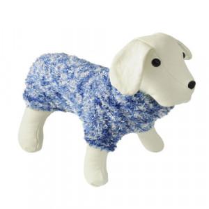 Jersey de lana de pelitos azul
