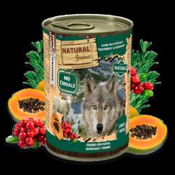Lata Natural Greatness de Cordero y Papaya con Arándanos 400grs