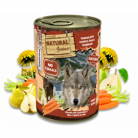 Lata Natural Greatness de Venado con Zanahoria
