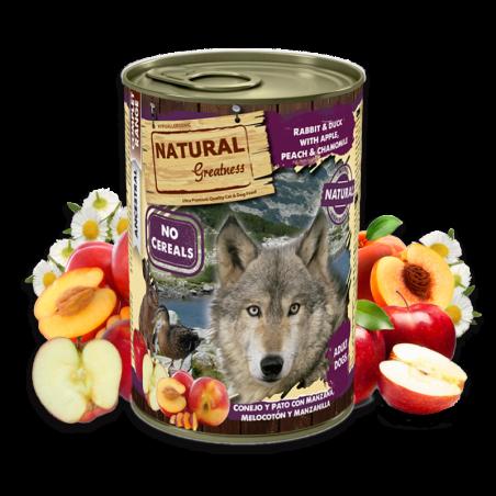 Lata Natural Greatness de Conejo y Pato con Manzana