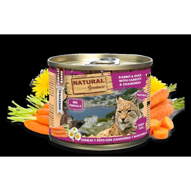 Lata Natural Greatness Conejo y Pato con Zanahoria y Manzanilla