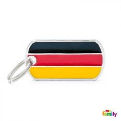 Placa bandera Alemana