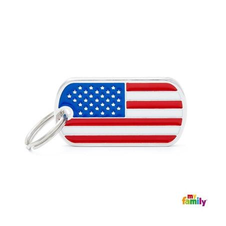 Placa Bandera U.S.A