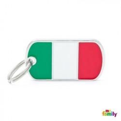 Placa Bandera De Italia