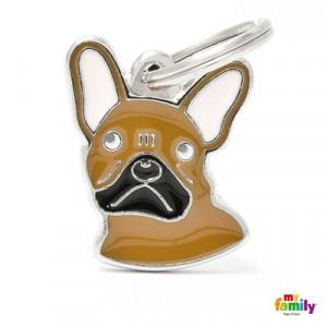 Placa Perro Bulldog Francés Fawn