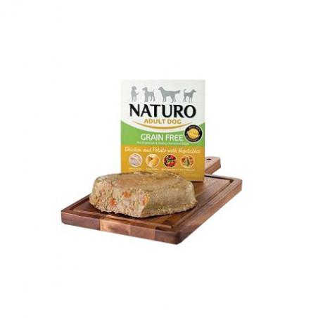 Tarrina Naturo Grain Free Pollo con Patatas 400Grs