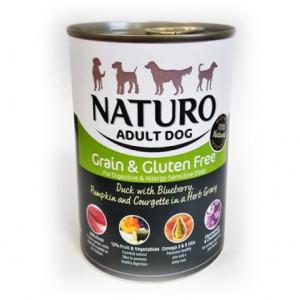 Lata Naturo Grain & Gluten Free Pato y Vegetales 390 Grs