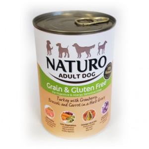 Lata Naturo Grain & Gluten Free Pavo y Vegetales 390 Grs
