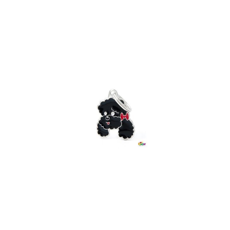 Placa Caniche Negro