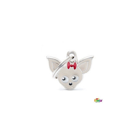 Placa Chihuahua Crema