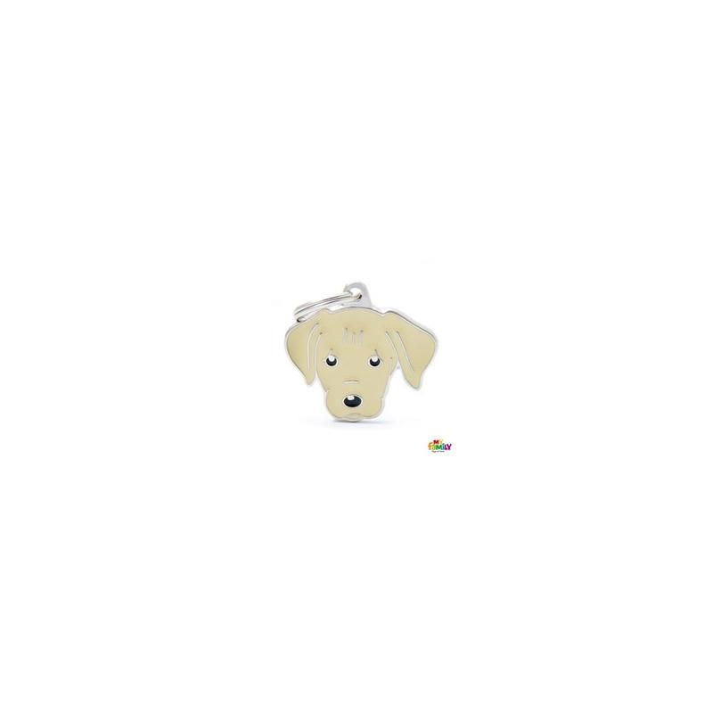 Placa Labrador amarillo