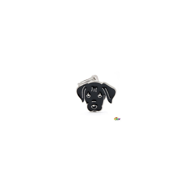 Placa Labrador Retriever Negro