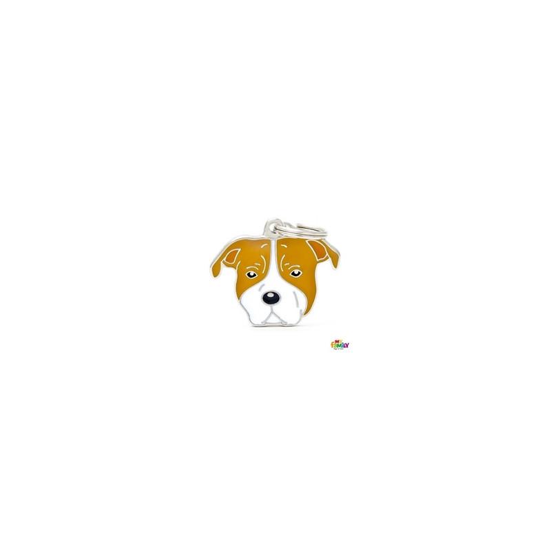 Placa American Staffordshire Terrier Blanco Y Marron