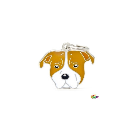Placa American Staffordshire Terrier Blanco Y Marron