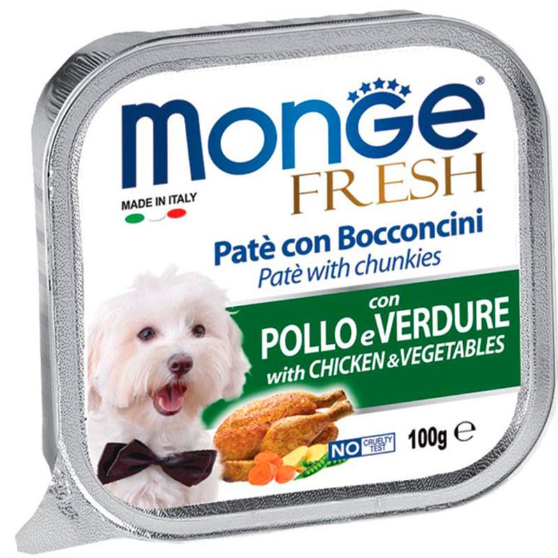 Monge Fresh Paté Trozos de Pollo Con Verduras