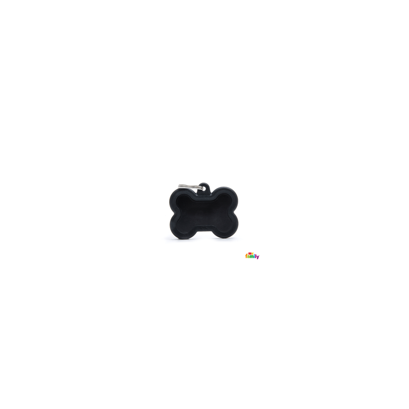 Placa Hushtag hueso Negro