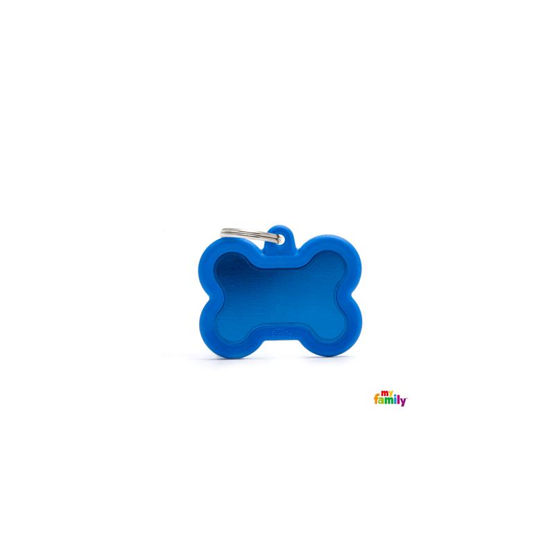 Placa hueso azul hushtag