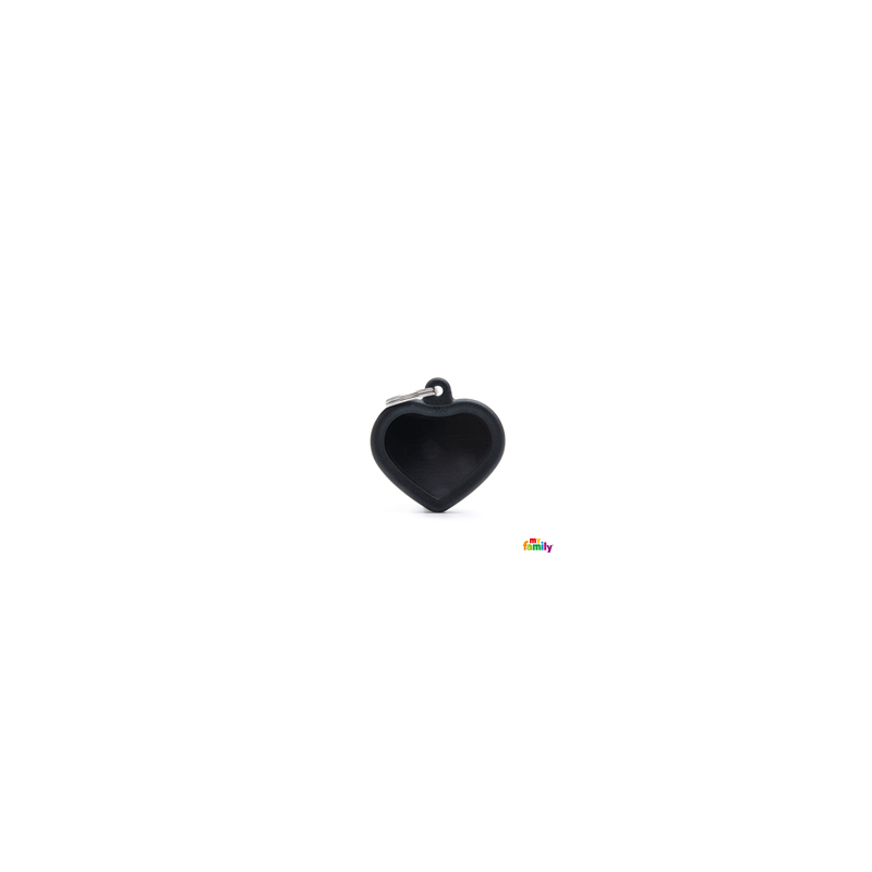 Placa Corazon Negro hushtag