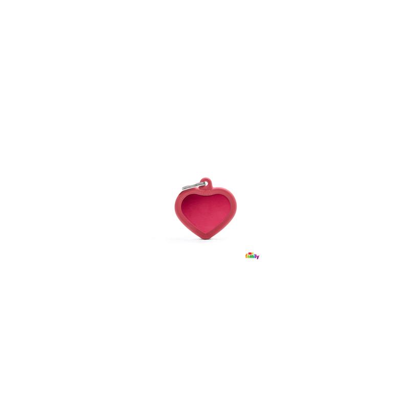 Placa Corazon roja Hushtag