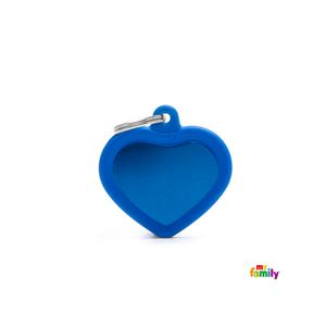Placa Corazon Azul Hushtag