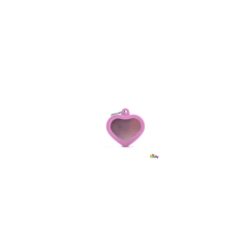 Placa Corazon Rosa Hushtag