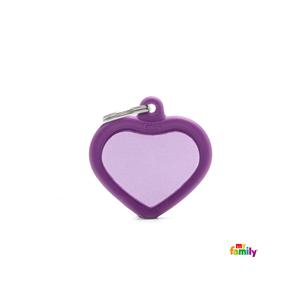 Placa Corazon Violeta Hushtag