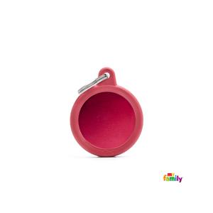 Placa redonda roja Hushtag