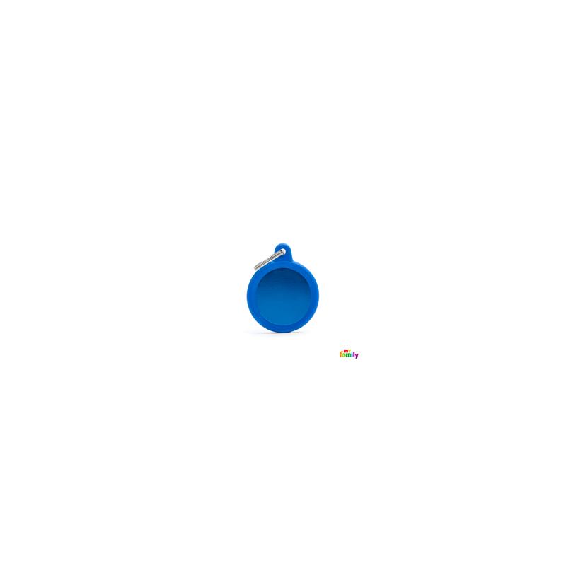 Placa Redonda Azul Hushtag