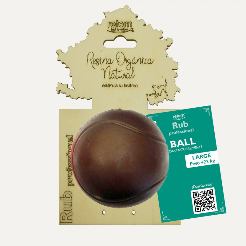 Juguete Retorn Resina Orgánica Natural Rub Ball L